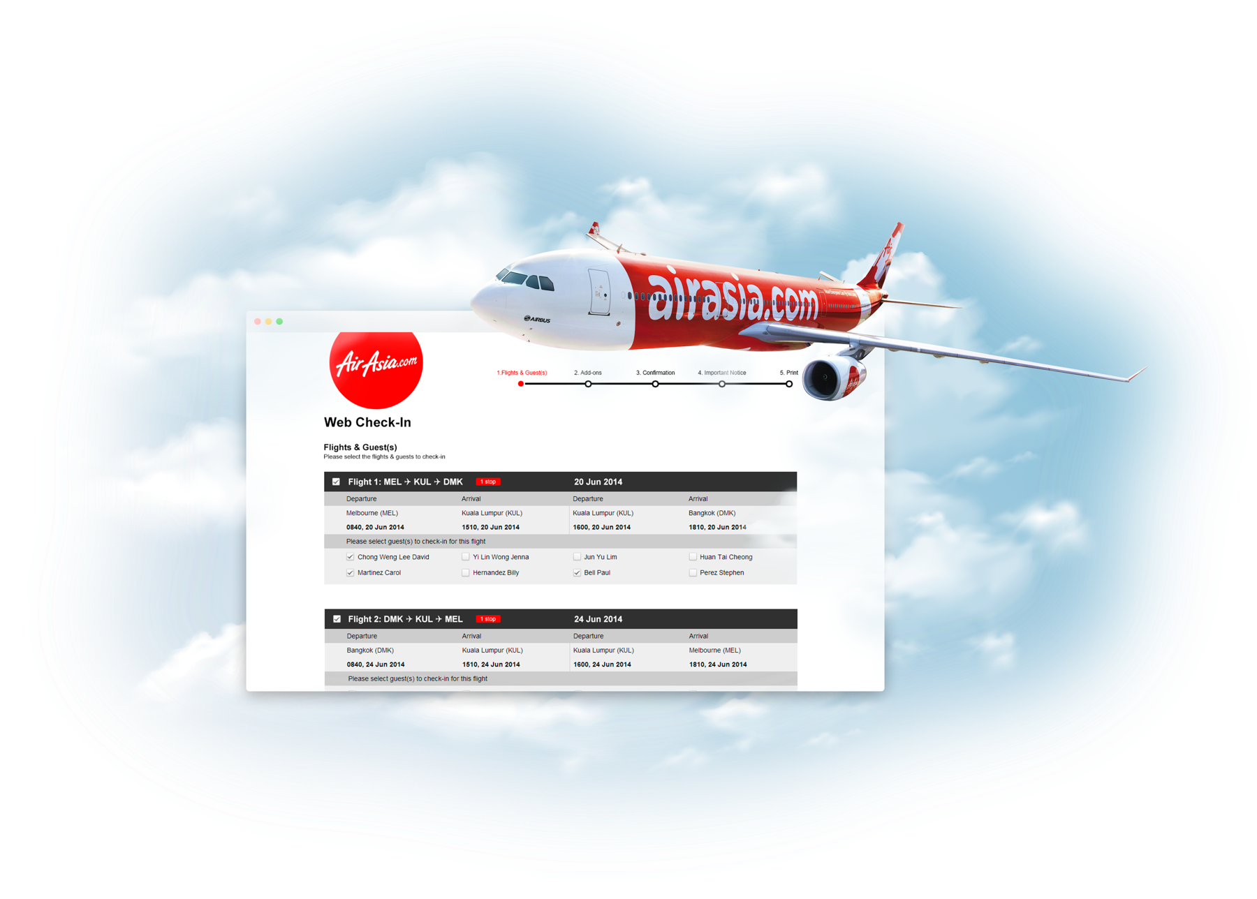 Photo of AirAsia Web Check-in redesign project